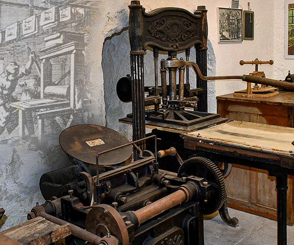 Die Buchdruckerei im Museum
